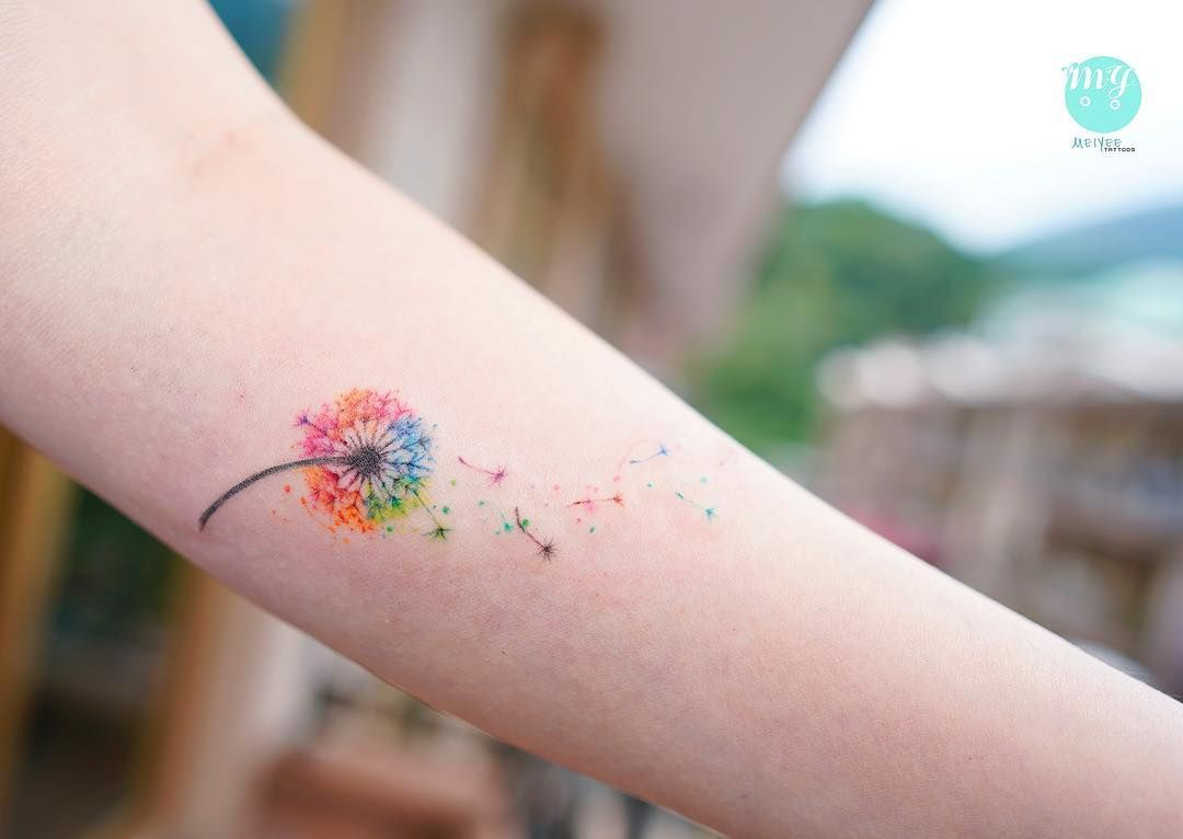 Meiyee Hk Tattoo Artist On Instagram Watercolour Dandelion