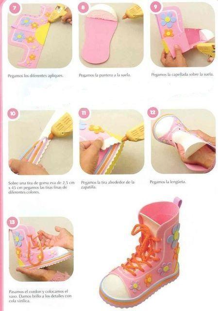 Cmo hacer una zapatilla de goma eva paso a paso realizando