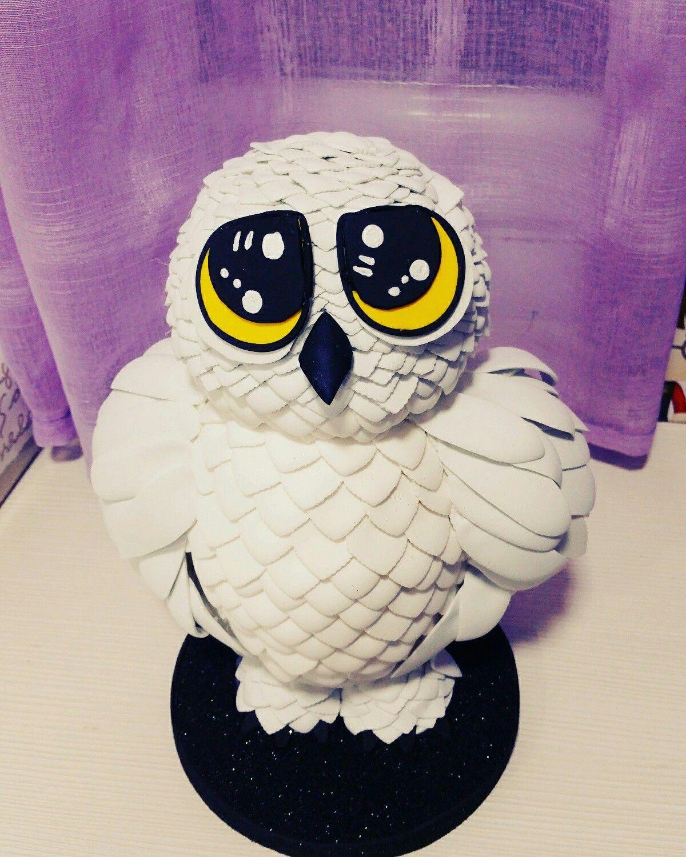 Hedwig, goma eva, Harry Potter, Buho, Lechuza | fofuchas | Pinterest ...