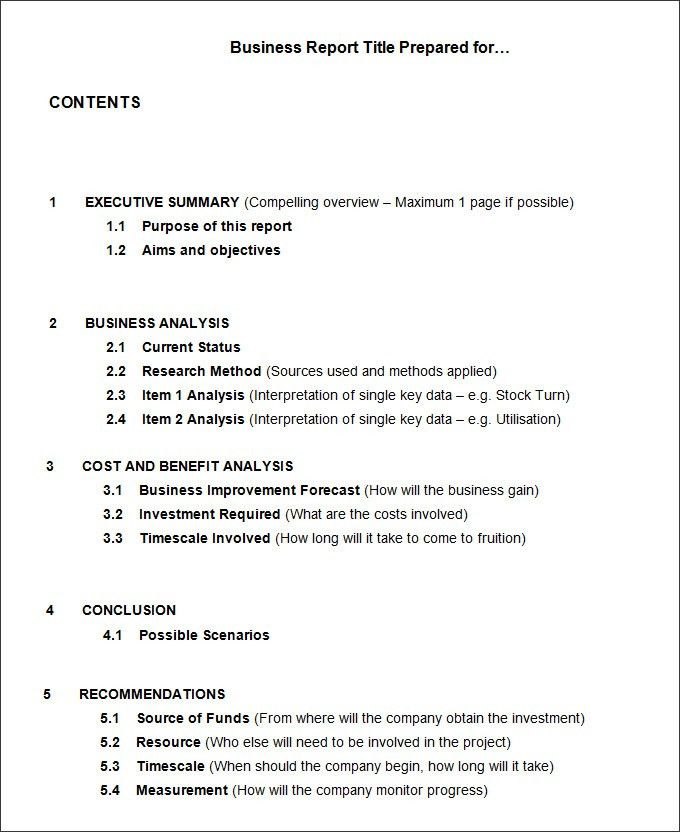 17 Business Report Templates Free Sample Example Format Template
