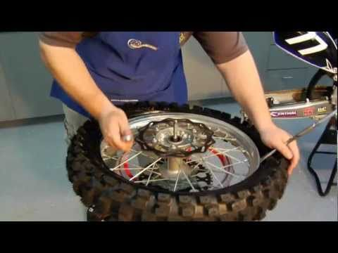 Dirt Bike Rear Tire And Tube Changing Youtube With Images