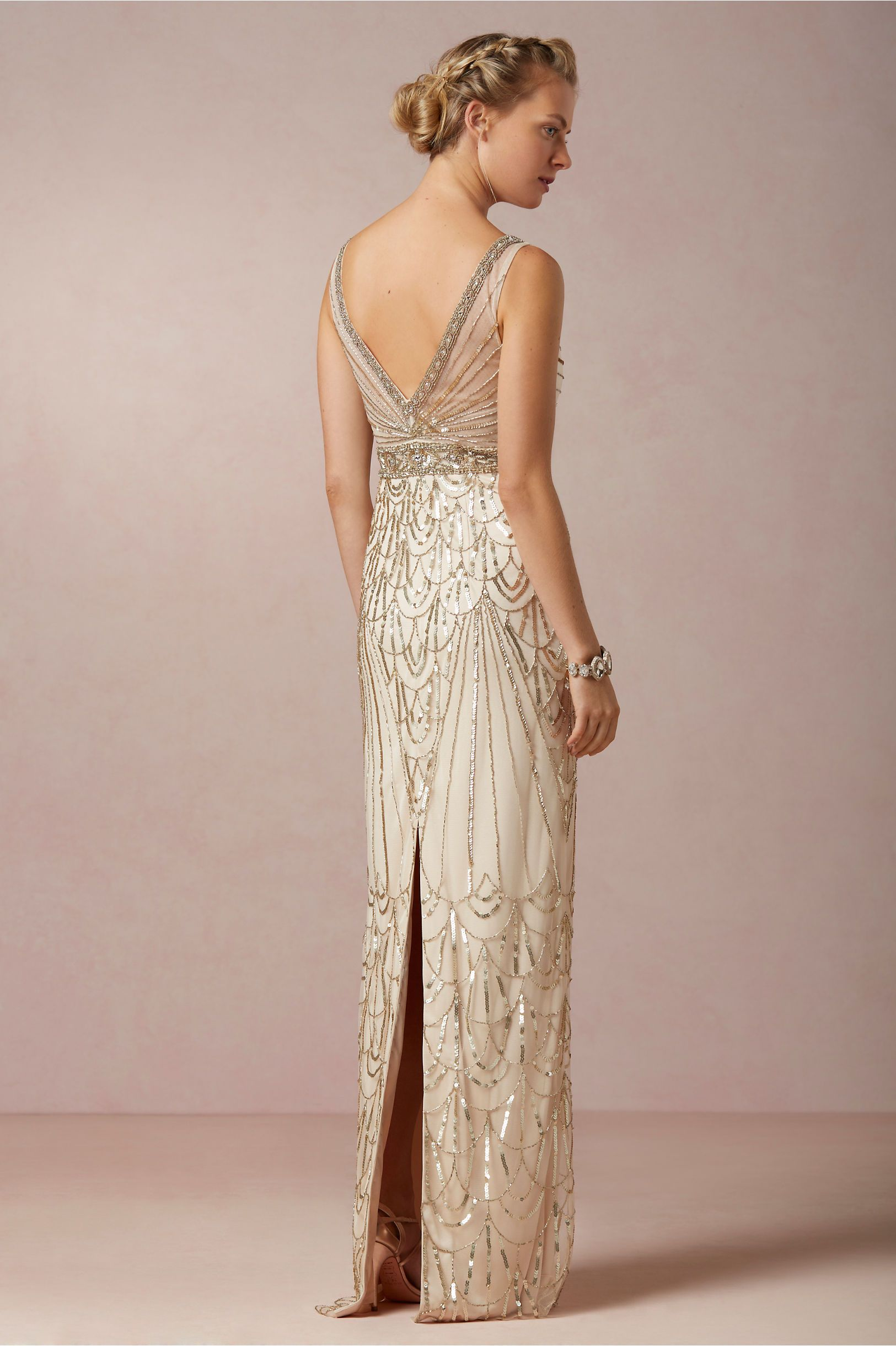 Great gatsby themed wedding dress  Maxine Gown from BHLDN  Wedding Dresses  Pinterest  Gatsby
