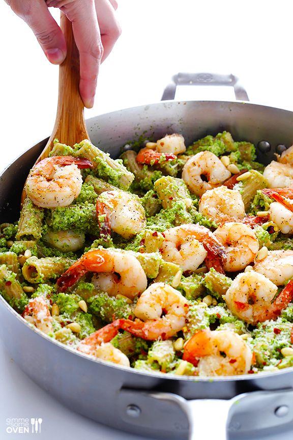 Shrimp Pasta With Broccoli Pesto Recipe Broccoli Pesto