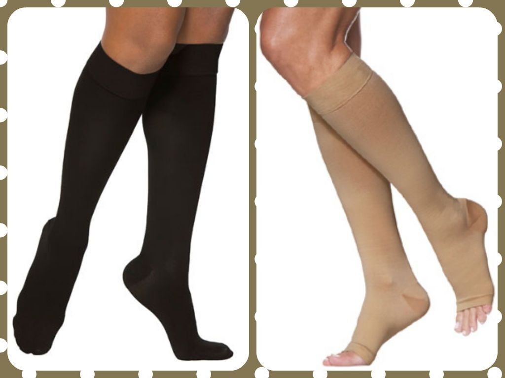 5826268212b What s the difference between Closed Toe and Open Toe compression stockings   Style! Learn more