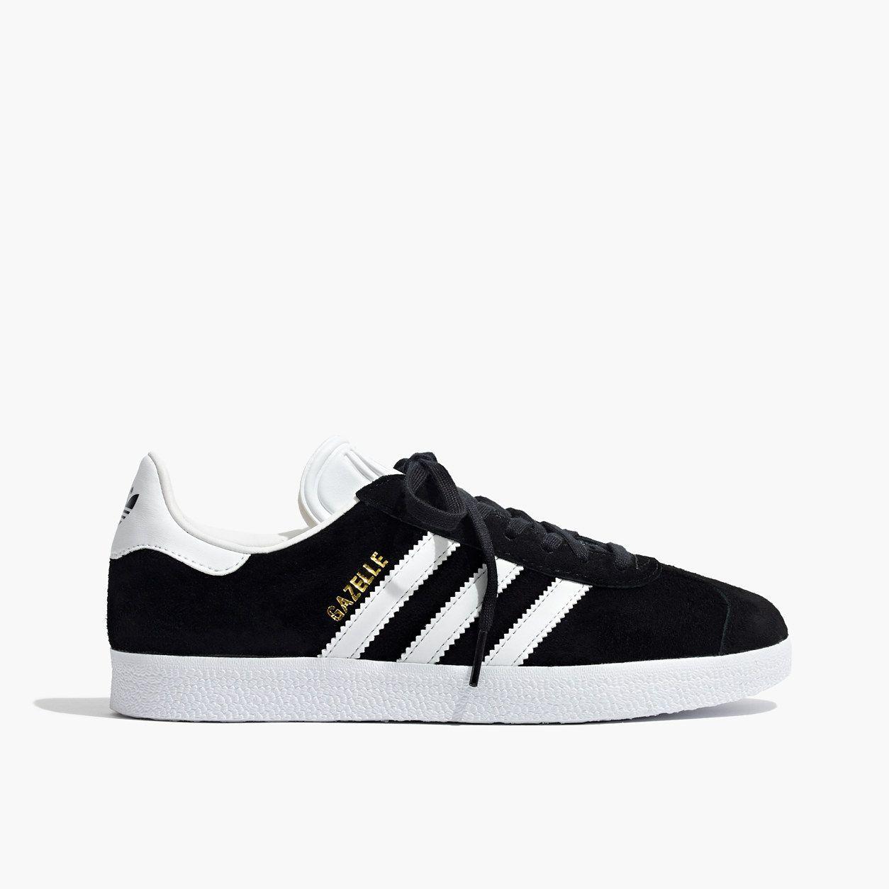 adidas black GAZELLE leather heiß Lady's gazelle Adidas