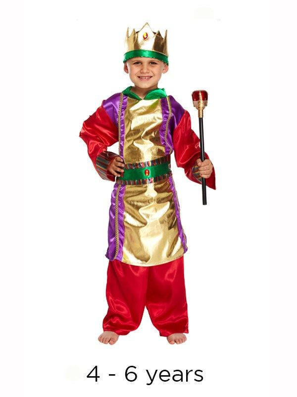 Children's King Christmas Nativity School Kids Play Fancy Dress Costume