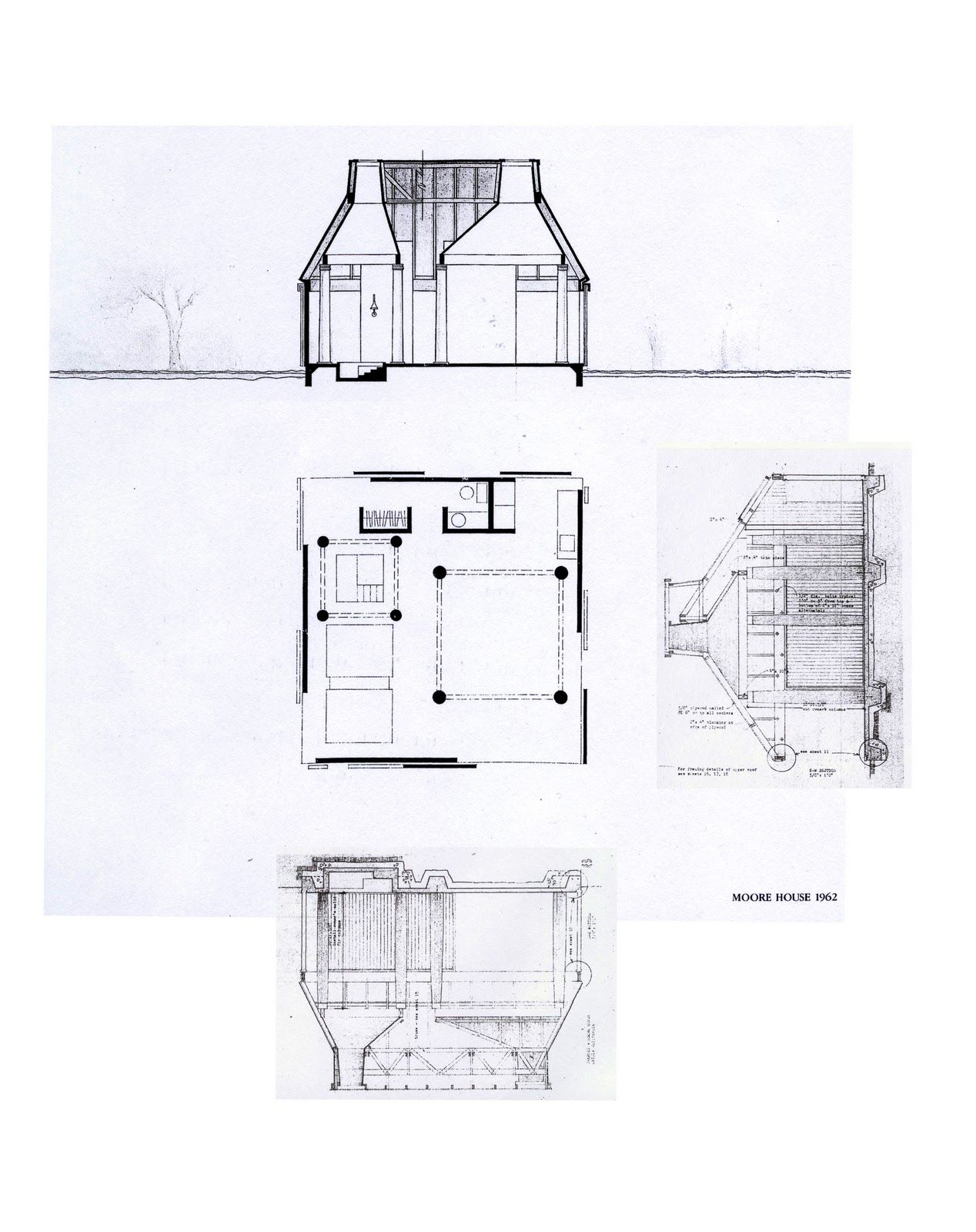 20110311 Que Significa Simultaneidad Architectural Section Architecture Drawing Moore House