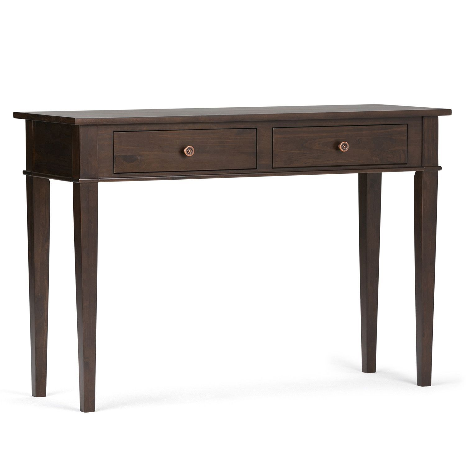 Delicieux Carlton 44 X 16 X 30 Inch Console Sofa Table In Tobacco Brown