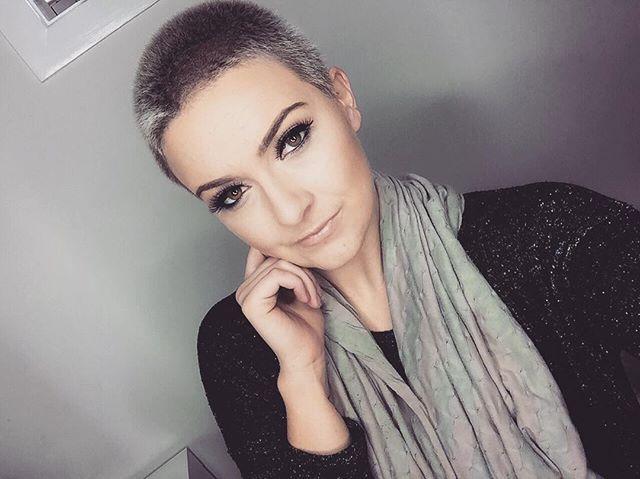 Instagram Analytics Buzz Cut Women 1 Pinterest Haircuts Buzz