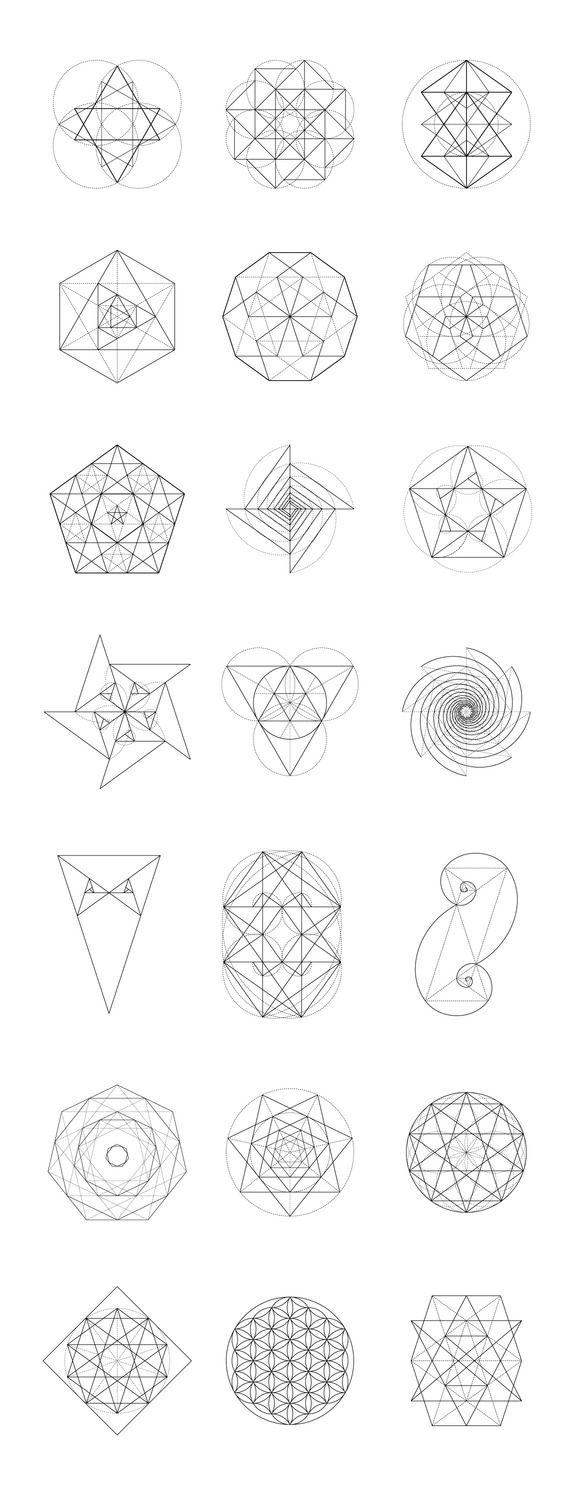 Sacred Geometry BUNDLE: 60 Items by kloroform on