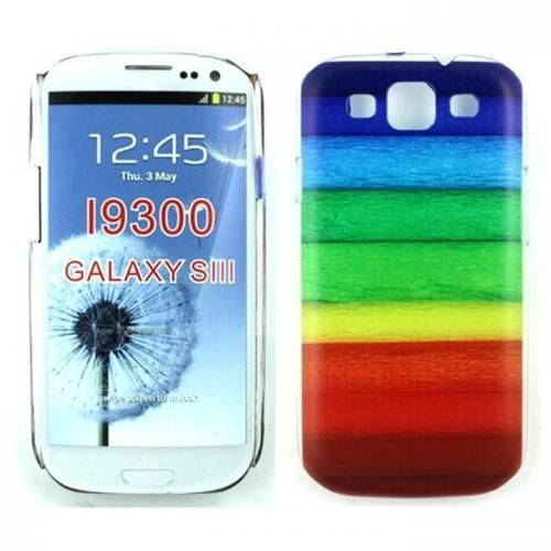 Protect your case with Samsung Galaxy S3 Rainbow Design Case (Transparent)