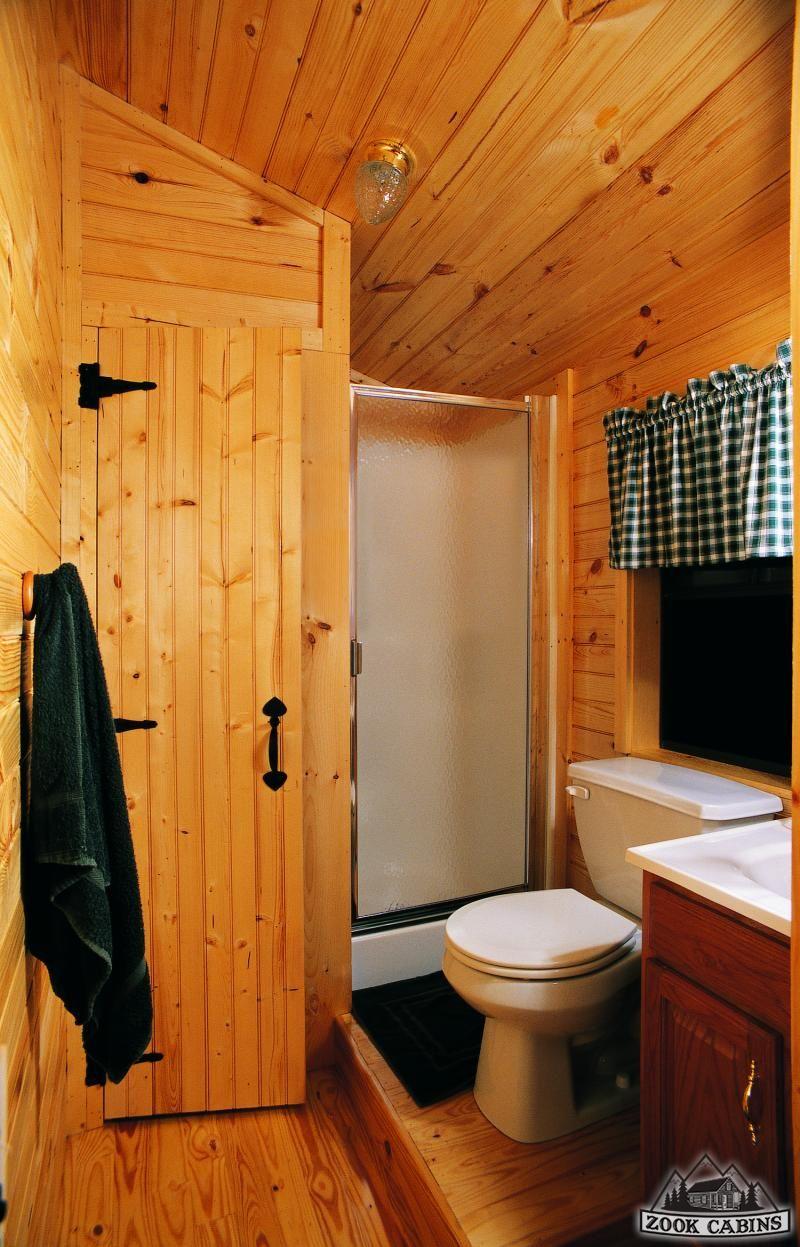 Small Log Homes Cabin bathroom decor, Small cabin