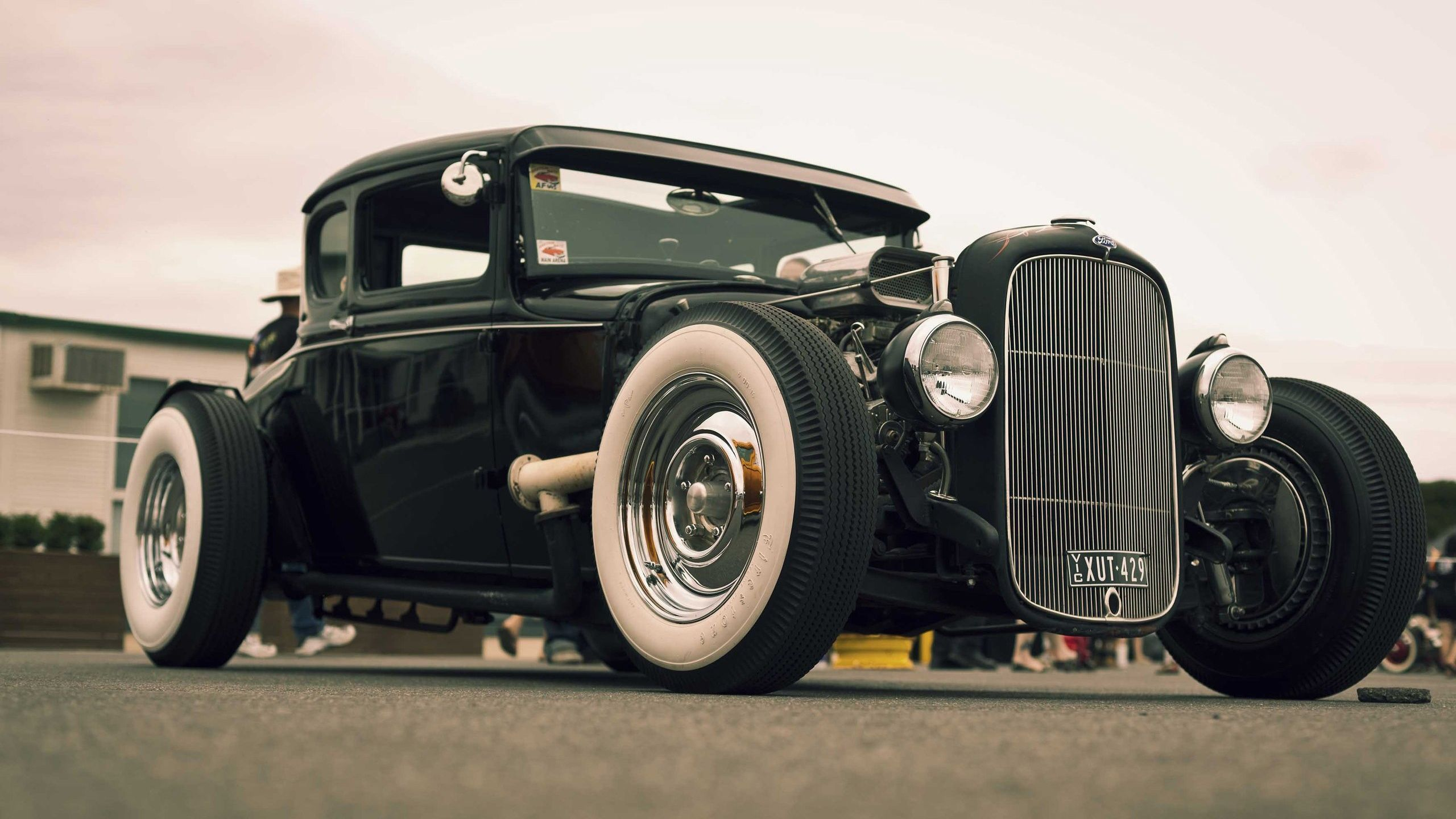 Classic Black Hot Rod HD Wallpaper - http://1sthdwallpapers.com ...