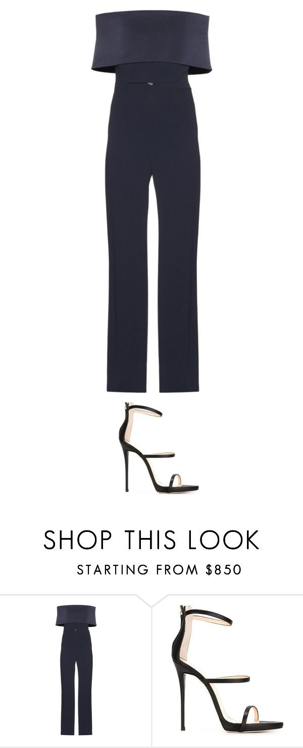 """""""Off the shoulder jumpsuit"""" by larry4ever-1d ❤ liked on Polyvore featuring Galvan and Giuseppe Zanotti"""