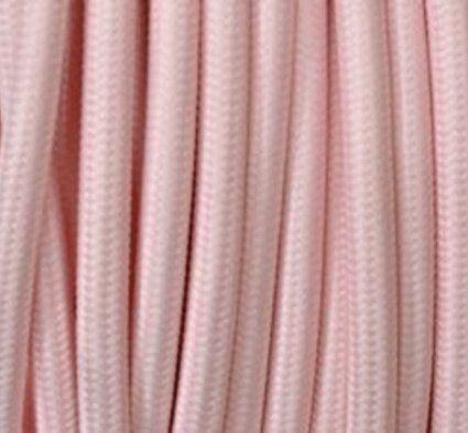 Farbige Elektrokabel textilkabel stoffkabel lenkabel rosa 3 adrig rund 3 x 0