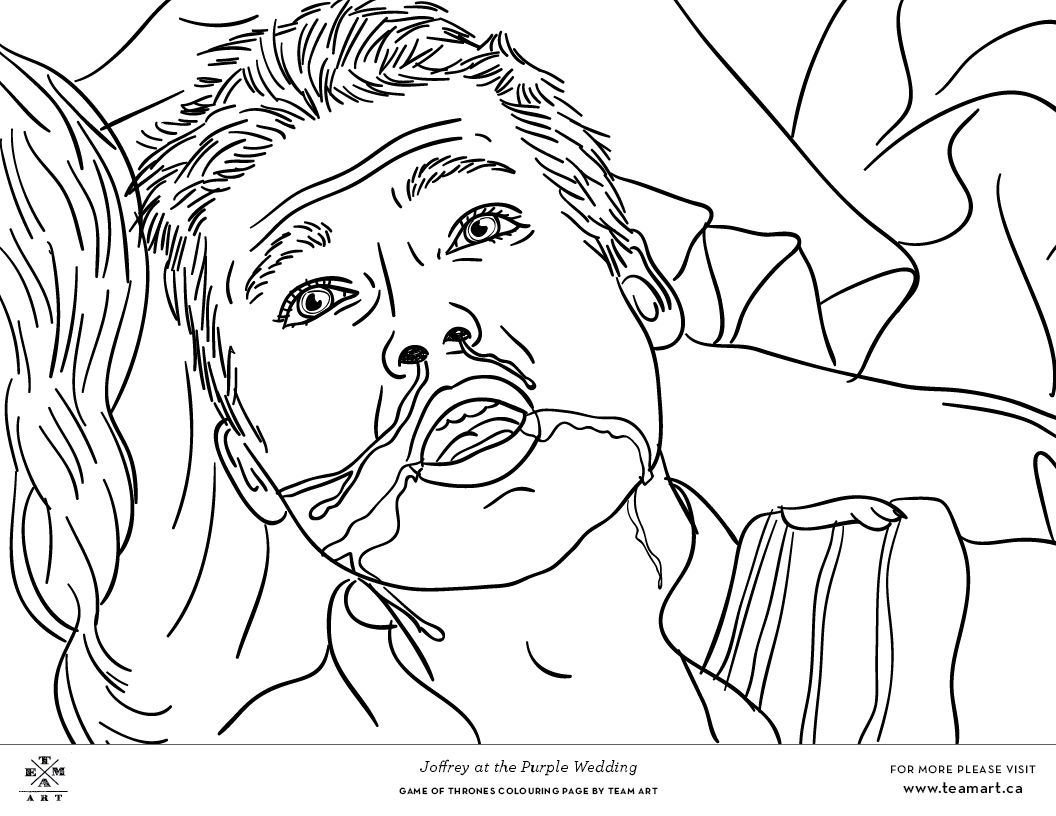 We Featured Characters And Scenes That Were Not In Our Original Game Of Thrones Colouring Book