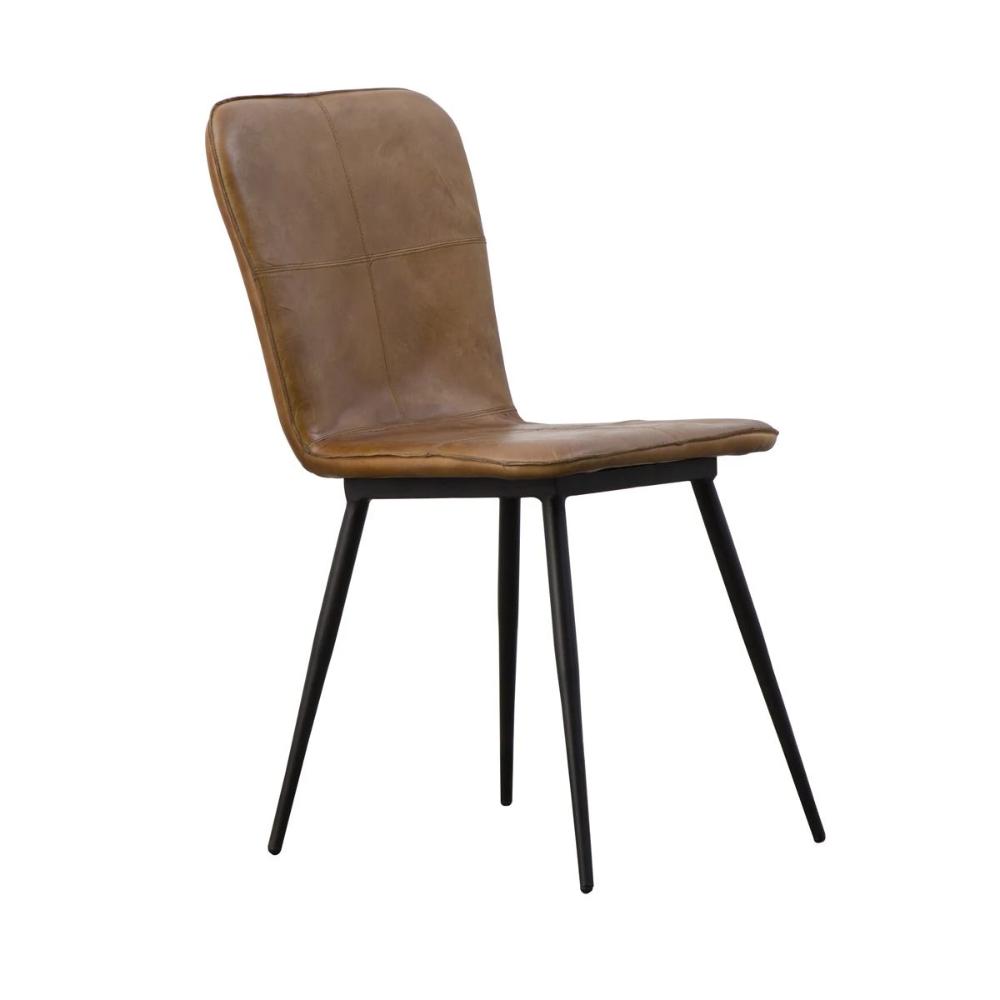 Chaise Design Cuir De Buffle Naturel Marron Ref Me 68c Brown Made In Meubles La Redoute En 2020 Chaise Design Mobilier De Salon Meuble En Pin Massif