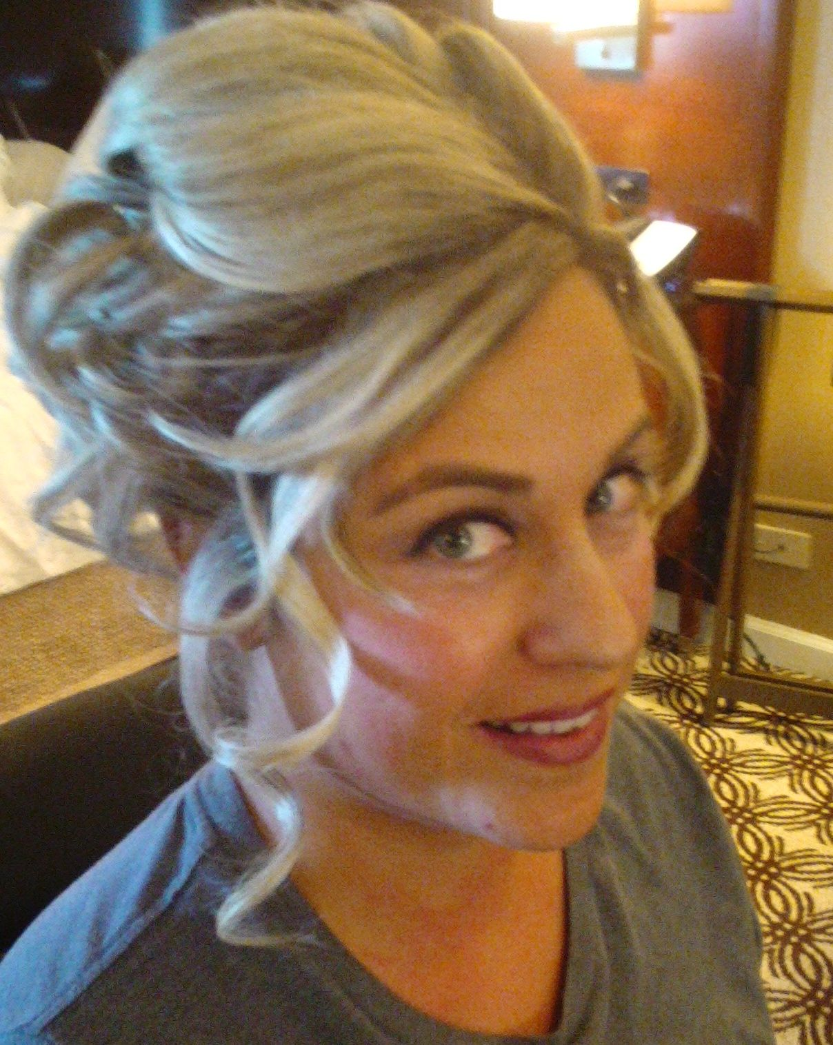 updo by rochelle noone on location bridal hairstylist pittsburgh pa