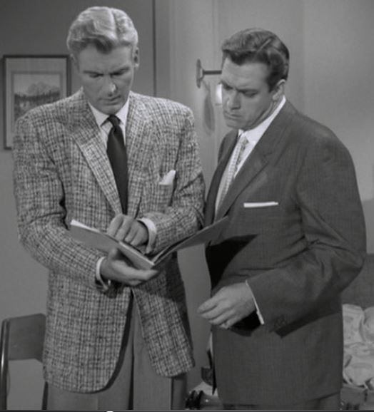 William Hopper With Raymond Burr In Perry Mason Season 1 Episode 4 The Case Of The Drowning Duck Perry Mason Perry Mason Tv Series Perry