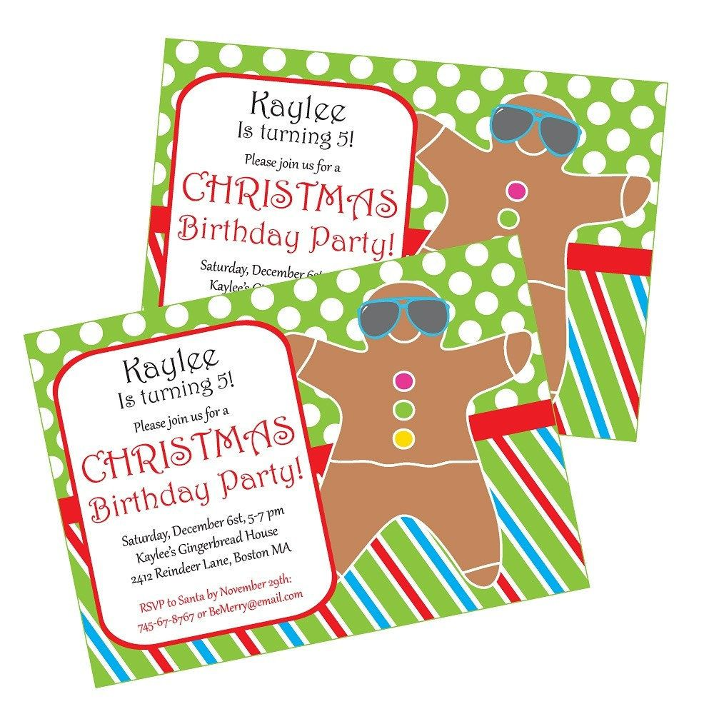 Christmas In July Party Clipart.Christmas Printable Invite Summer Christmas Christmas