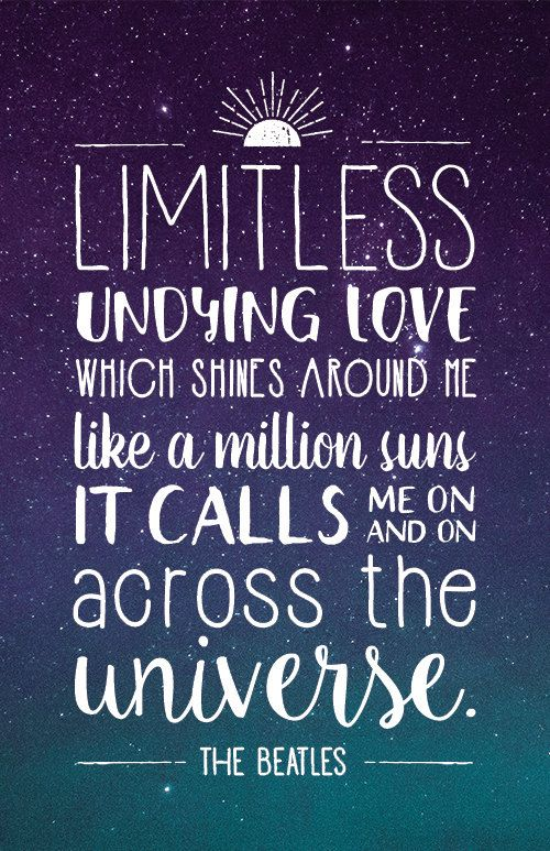 The Beatles Quotes Fascinating Beatles Lyrics Quote Poster  Across The Universe  For The Home . Inspiration Design