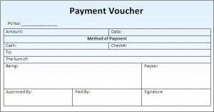 Payment Voucher Template Format Sample Template Coupon
