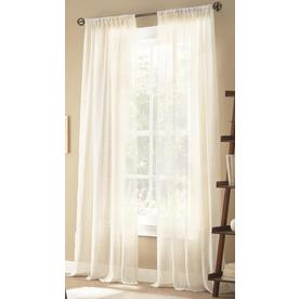 Allen Roth Hamlen 84 In White Polyester Sheer Single Curtain