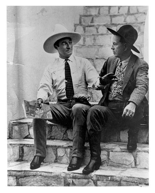 Oklahoma Old Photos. Tom Mix with Emmett Dalton