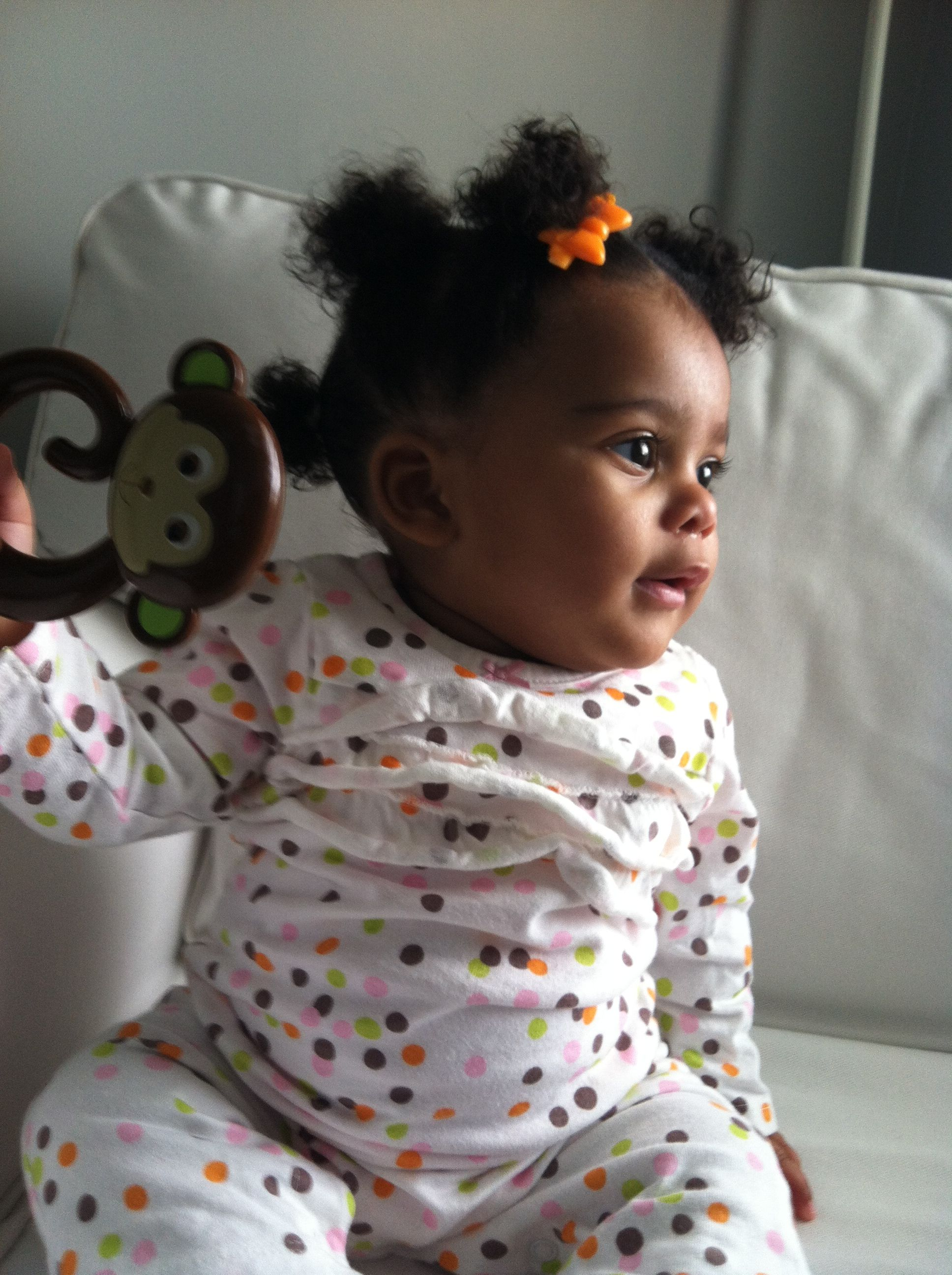 Infant natural hairstyle | Baby girl hair, Baby girl ...
