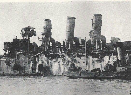 The Blockade Ship Hms Vindictive The Zeebrugge Raid April 1918