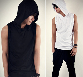 Mens' Sleeveless Hoodie T-Shirt | clothes | Pinterest | Sleeveless ...