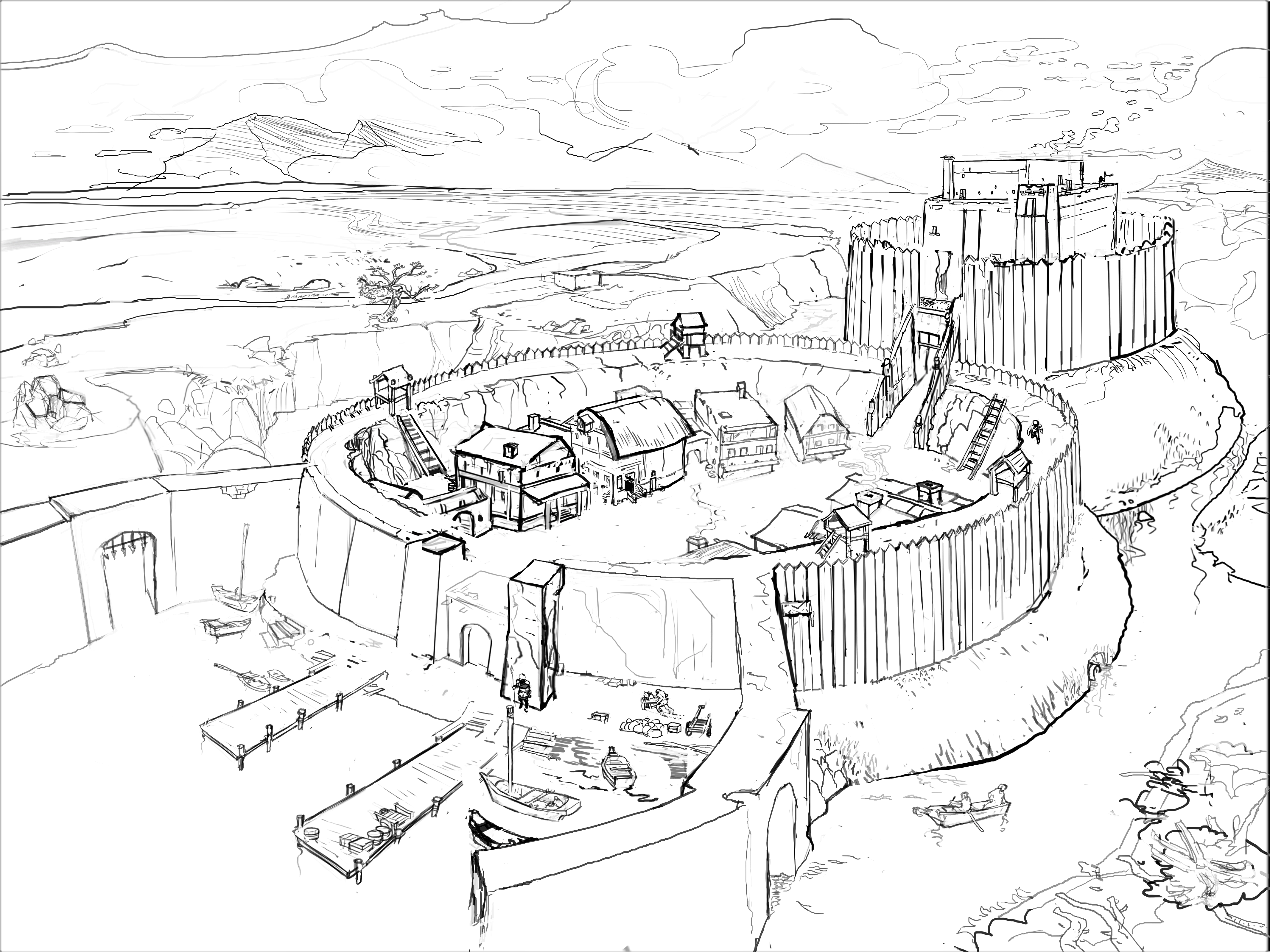 A Centurion Castle Built On The Elbe North Of Hamburg Circa 946 A D Built In The Older Motte And Bailey Sty In 2020 With Images Christian Fantasy The Centurions Adventure Novels