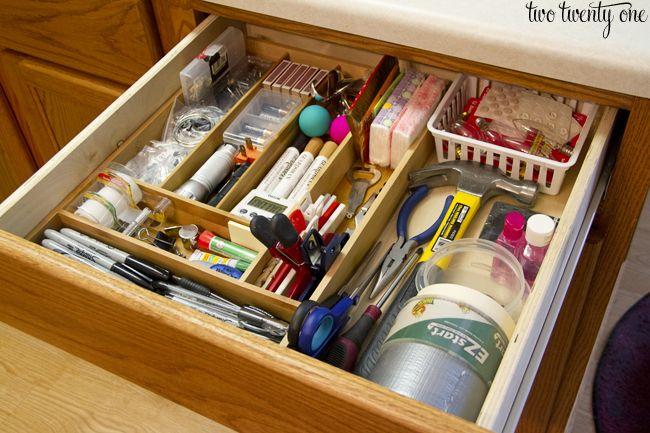 Junk Drawer Organization Junk Drawer Organizing Home Organization Hacks Junk Organization