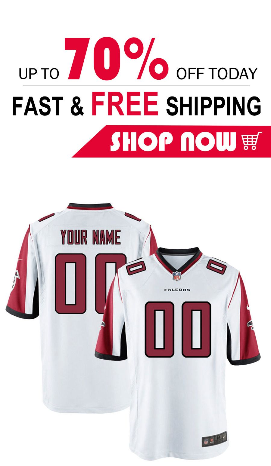67ebf8a85 2019 的 Atlanta Falcons custom football Game Jersey 主题 | NFL Atlanta Falcons  Jersey | Nfl jerseys、Custom football 和 NFL