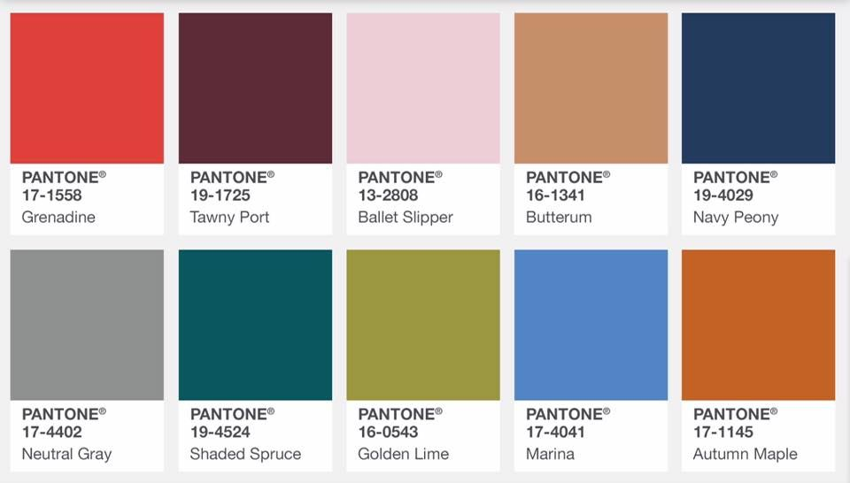 Fall Colors Love Tawny Port Ballet Slipper Navy Peony Natural Gray Shaded Spruce Fall Fashion Colors Pantone Fall Pantone Fall 2017