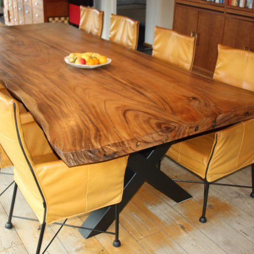 Mesa de comedor moderna / de madera maciza / rectangular ...