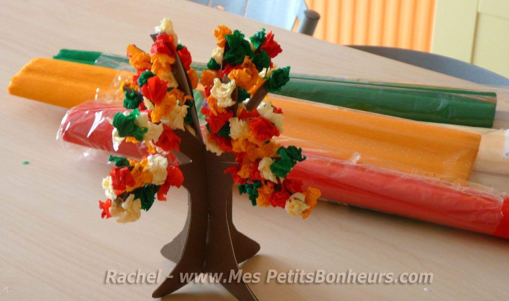 Gut gemocht arbre automne bricolage 3D papier crepon | Bricolages d'automne  CH48