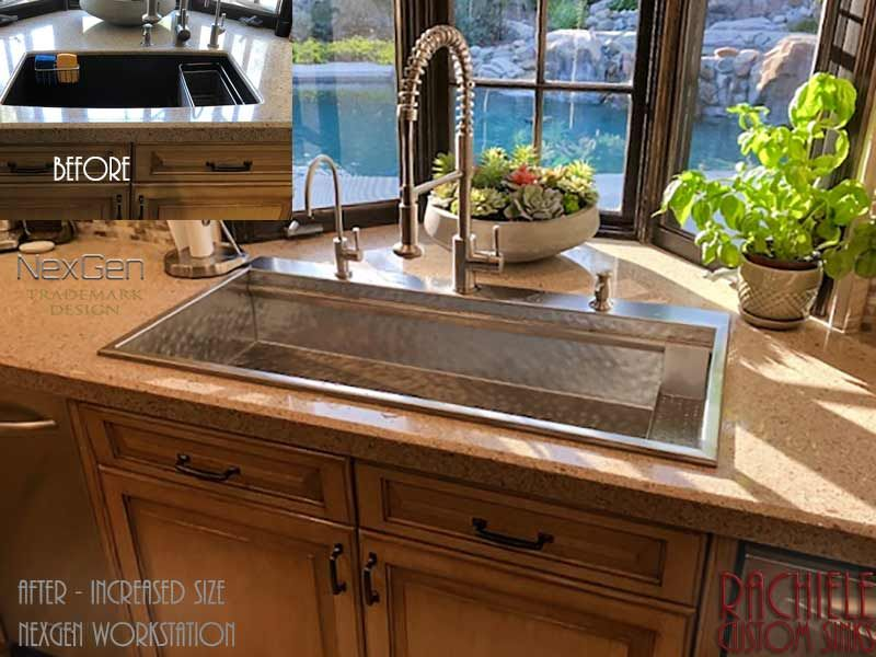 Custom Stainless Steel Replacement Sink Replacing Kitchen Countertops Stone Countertops Kitchen Kitchen Design