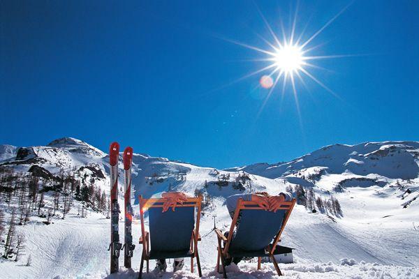 Sonnenschutz im Winter.