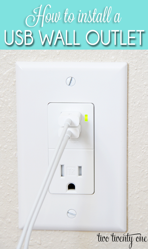 How to Install a USB Wall Outlet {Receptacle Outlet} | Wall outlet ...