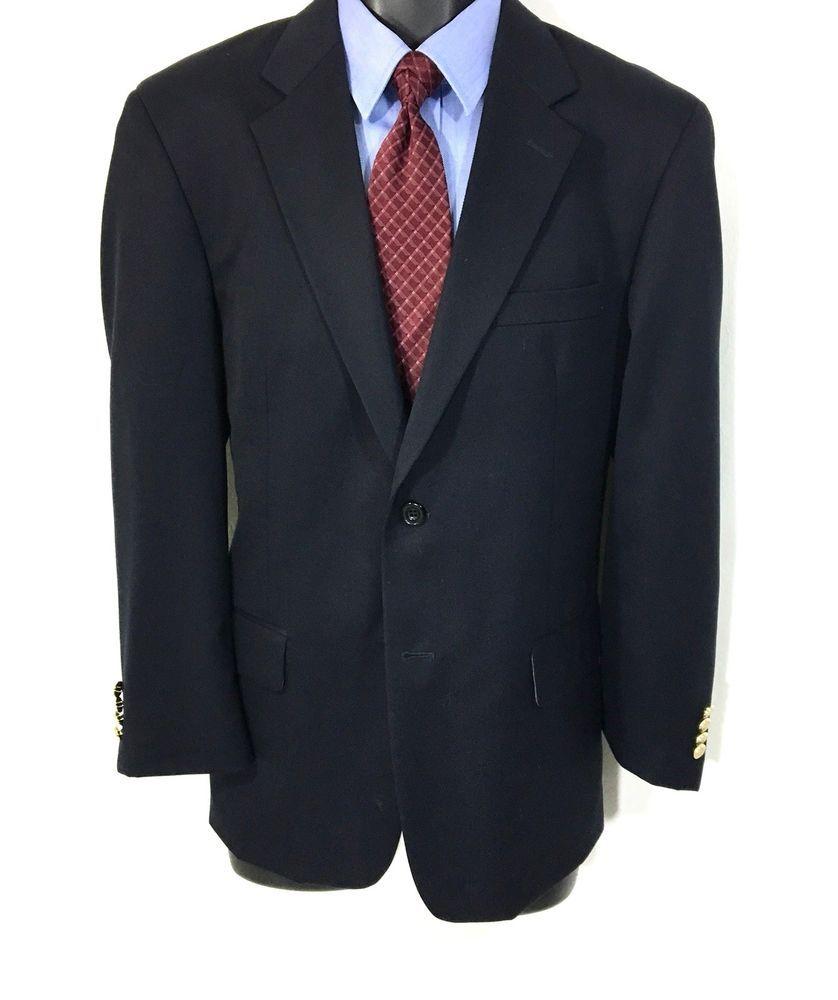 491edc36a GERALD AUSTIN Mens Suit Jacket Size 41S | 100% Wool Navy 2 Button Sport Coat  #AustinReed #TwoButton