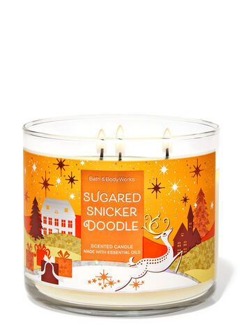 Bath & Body Works Sugared Snickerdoodle 3-Wick Can