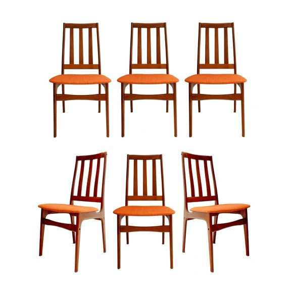 Free Shipping Set of 6 Danish Modern Highback by ...