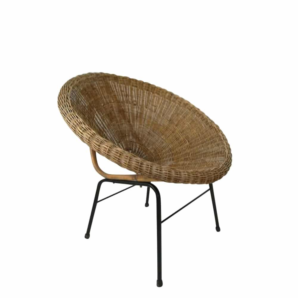 Fotel Wiklinowy Lata 60 Sen Furniture Chair Wicker