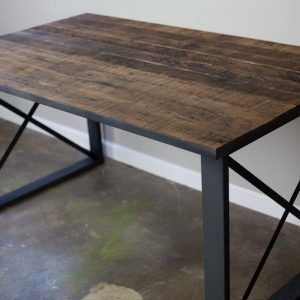 Rustic Kitchen Table With Metal Legs  Httpnilgostar Fair Rustic Kitchen Tables Decorating Inspiration