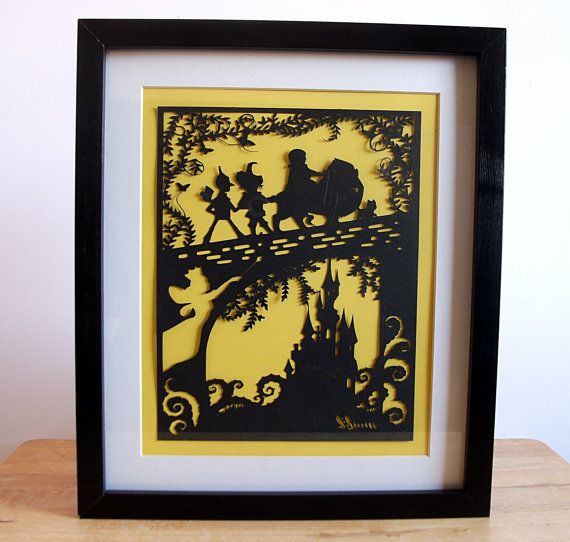 The Wizard of Oz Paper Cut, Wizard of Oz Wall Art, Wizard of Oz Wall ...