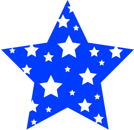 blue star patterned with white stars silhouette pinterest star rh pinterest com blue star clipart with transparent background blue star clip art
