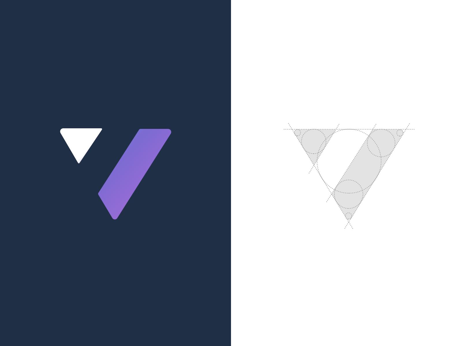 Negative Space V logo design, Logo design, Logo design