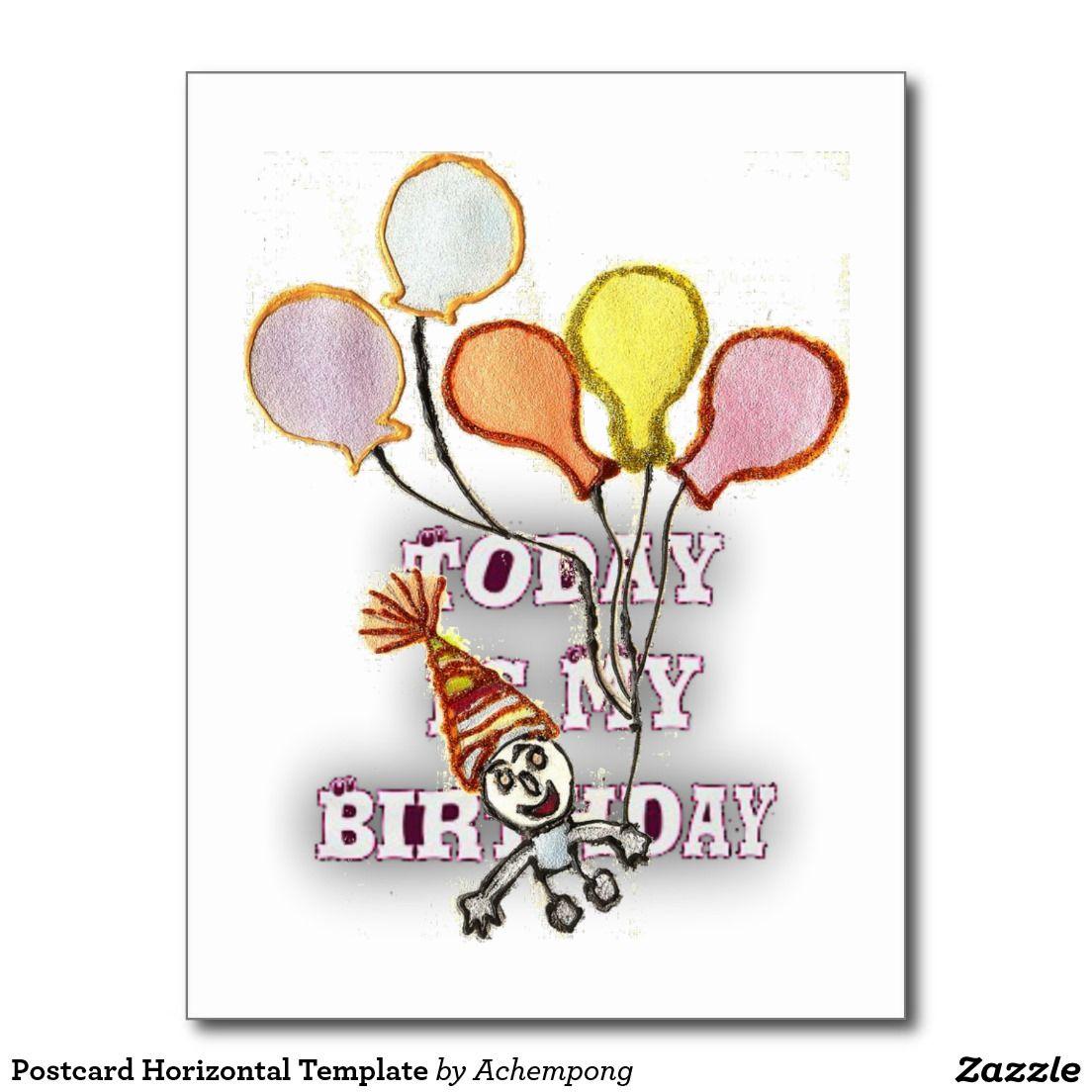 #Post-card #Horizontal #Template #Cards & #Invitations #Postcard #Hakuna #Matata #Greeting #card #Today #Is #My #Birthday #Postcards