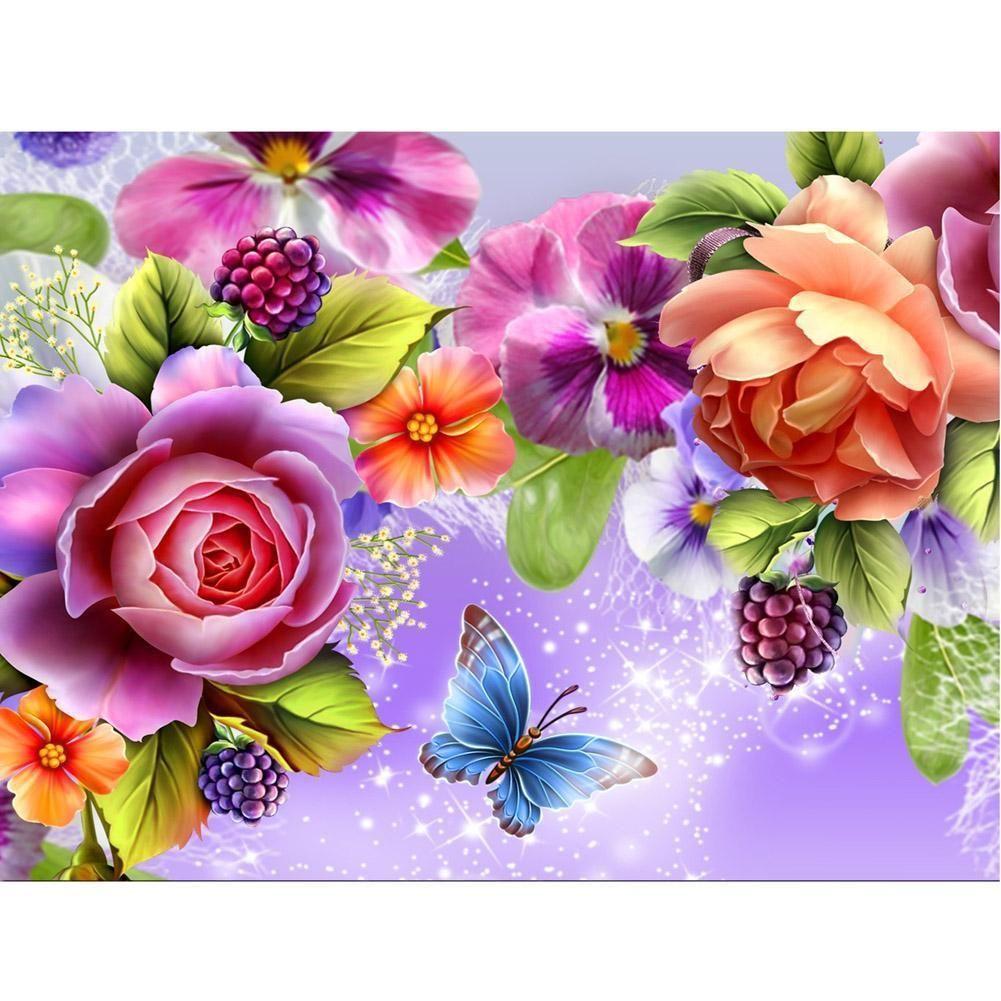 5D DIY Diamond Painting Butterfly Resin Cross Stitch Kit Home Decor Crafts